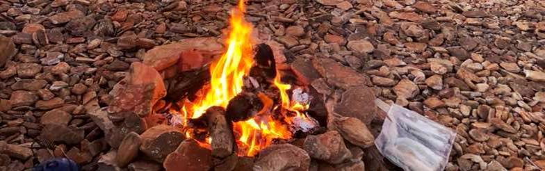 Around the camfire