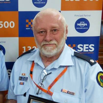 Inspector Frank Turner, Commander, Liverpool Plains Shire SES, NSW Australia
