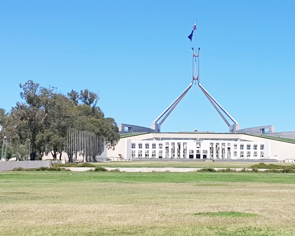 Parliament House, Canberra, ACT where the laws of the land are made. Could they really be debating a new law limiting household tools to one?