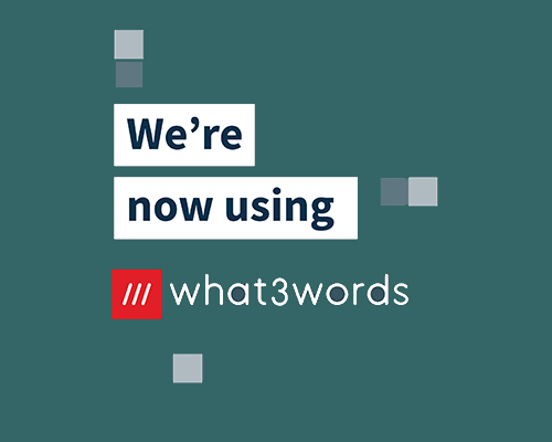 We're now using What3Words
